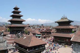 Bhaktapur, the city examples of wood-carving