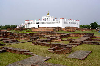 Lumbini, the birth place of Lord Gatum Buddha